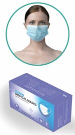 Type I Face Mask - disposable BFE 95% box and being worn