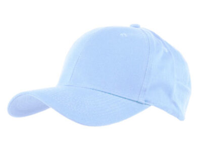 Sky Blue Baseball hat 6 panel for protection visor
