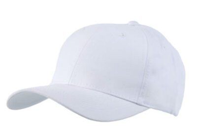 White Baseball hat 6 panel for protection visor