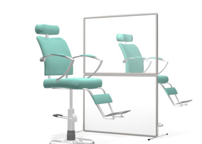 Flexiscreen Basic 2 Kit partitioning or dividing spaces for hairdressers or for dentists